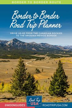 This driving route follows US-93 through a land of contrasts from the Canadian Rockies down to the Arizona-Mexico border. Plan your trip from alpine majesty, roaring rivers, and mountain forests to lava flows and empty, arid deserts with maps, historical context, and recommendations for the best small towns and outdoor adventures along the way. Road Trip Map, Road Trip Planner, Road Trips, Sea To Sky Highway, Sawtooth Mountains, Sonora Desert, Old Route 66, Twin Falls, Continental Divide