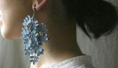 crochet earring by Miho Fujita