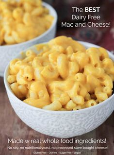 This ultra creamy Butternut Squash Mac and Cheese is super easy to make. Made from all whole food plant based ingredients, it's healthy for you, plus it's also dairy free, gluten free, soy free and vegan. You'll love how easy it is to make and it's 100% kid approved! Featured on The Doctors TV show!t This is the BEST vegan mac and cheese you'll ever have! #vegan #dairyfree #macandcheese #butternutsquash #dinner #kidfriendly #comfortfood #recipe #vegetarian #meatless