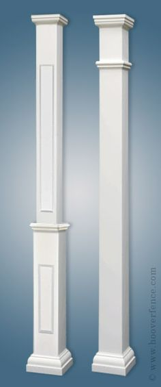 Architectural pvc porch columns this would fit over for Square porch columns