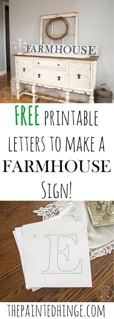 How to paint letters on wood without a stencil painted letters free printable letters to make a farmhouse sign spiritdancerdesigns Images