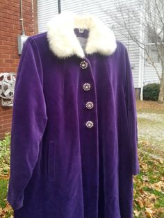 Vintage 60s Luxury High End Purple Velvet by VansVintageTreasures, $345.00