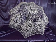 Crochet white umbrella ♥LCU-MRS♥️ with diagram and step by step instructions.