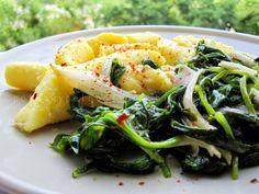 Potrawy Półgodzinne: Leniwe bezglutenowe i szpinak