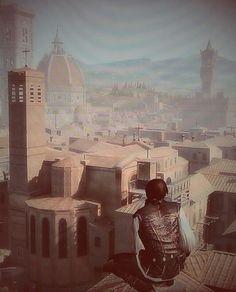 Assassin's creed 2 Exio Auditoré de Florence. Prise de vue de florence