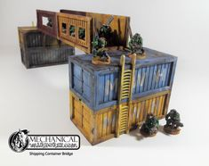 Shipping Container Bridge is a great way to expand across your terrain boards. Compatible with our container kits this bridge gives plenty of cover and safe passage. Apocalypse Character, Foamcore, Game Effect, Wargaming Terrain, Warhammer 40k, Fallout, Trains, Bridge, Scenery