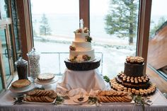 Dessert Table Cake by Flour Girl, South Lake Tahoe Photo By Eric Turner Photography