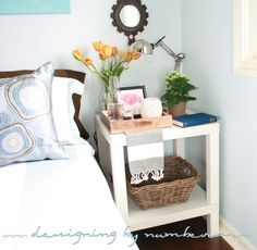 Fix an IKEA Lack table to be the right height for a bedside table | remodelaholic.com #ikea #ikeahack #endtable #nightstand