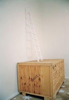 Peter Callesen Peter Callesen, Paper Artist, Ladders, Paper Cutting, Cool Art, Cool Stuff, Home Decor, Stairs, Staircases