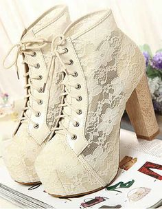 Beautiful lace ankle boots