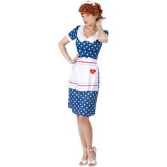 I Love Lucy Sassy Lucy Adult Halloween Costume I AM SO GOING TO GET THIS INSTEAD OF BEING A LADY BUG