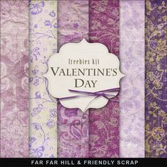 Far Far Hill: New Freebies Background Kit - Valentine's Day