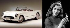 1953 Chevrolet Corvette and Norma Jean Mortenson
