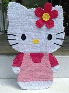 ***Please add your party date with your order**** Allow 3 to 4 weeks to make and arrive to your door step. Her measurements inches wide, 22 Piñata Hello Kitty, Hello Kitty Pinata, Hello Kitty Birthday, Minion Pinata, Presents For Wife, Cat Party, Diy Invitations, Birthday Images, Diy For Kids