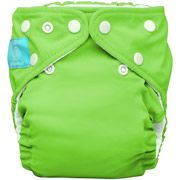 Charlie Banana 2-in-1 Reusable Diapering System, 1 Diaper and 2 Inserts, (One Size), Green $20.88