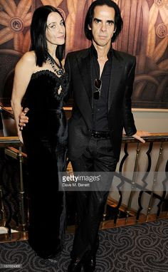 Susie Bick (L) and Nick Cave pose at the British Fashion Awards 2012 at The Savoy Theatre on November 27, 2012 in London, England.