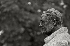 Ernest Hemingway. Paseo de Hemingway. Pamplona, Spain.