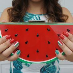 Mmm, our fave summer fruit. Matching your mani to your fave accessory is so clutch. // Nails by xomireyaa <3