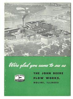 1951 Souvenir Booklet John Deere Plow Works Factory Tour Moline Illinois Workers