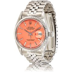 Vintage Watch Women's Vintage Oyster Perpetual Datejust Watch ($5,365) ❤ liked on Polyvore featuring jewelry, watches, vintage jewellery, vintage crown, vintage jewelry, polish jewelry and vintage wrist watch