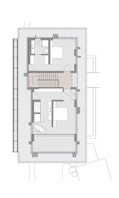 Gallery of Vıcem Bodrum Resıdences / Emre Arolat Architects - 29 Home Design Floor Plans, Bedroom Floor Plans, Plan Design, Architecture Plan, Residential Architecture, Hotel Floor Plan, Modern Villa Design, Suburban House, Modular Homes