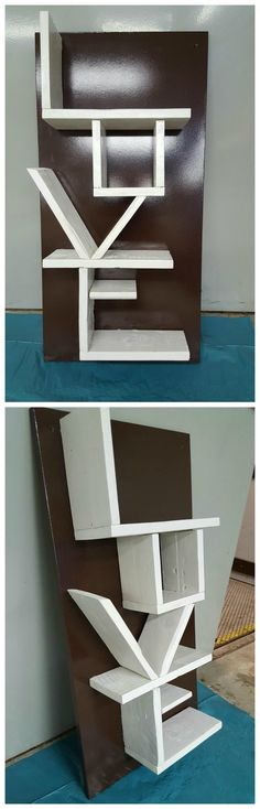 Handmade bookcase with love ❤ / DIY / Upcycling