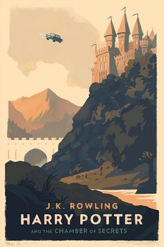 Harry Potter and the Chamber of Secrets Poster - Olly Moss