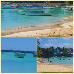 Mauritius turquoise waters and blue ble skies