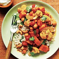 Fall vegetable curry - one of my favorite dinners to make! I like to add carrots and coconut juice.