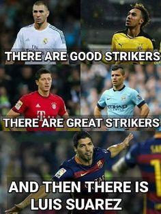 Benzema i Aubameyang są dobrymi napastnikami • Lewandowski i Aguero są świetnymi napastnikami • Luis Suarez jest na innym poziomie >> #suarez #football #soccer #sports #pilkanozna