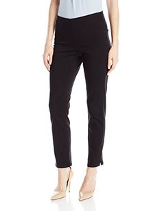 NYDJ Women's Millie Pull On Ankle Jeans In Luxury Touch Denim, Black, 4 >>> Continue to the product at the image link. (This is an affiliate link) Women's Jeans, Ankle Jeans, Jeans Women, Jean Outfits, Body Types, Black Denim, Image Link, Capri Pants, Touch