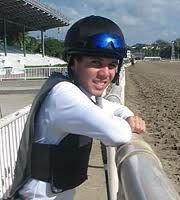 Frank Alvarado became the first Bay Area-based jockey to win a USD 1 million race when he guided McCann's Mojave to a 33-to-1 shocker in the 2007 Sunshine Millions Classic at Gulfstream Park. Also had great success at Bay Meadows, where he finished second in the standings four times – 2008 Spring, 2005 Winter/Spring, 2001 Fall, and 2000 Fall