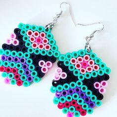 Earrings hama beads by marens