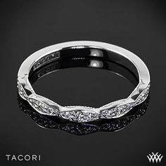 Tacori 46-2 Sculpted Crescent Half Eternity Ribbon Diamond Wedding Ring