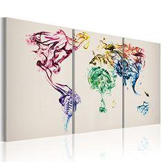 Impression sur toile 120x80cm 3 parties image sur for Tableau en 3 parties