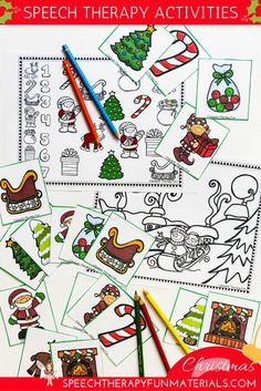 FREE Christmas language and articulation activities for speech therapy!