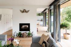 For Sale: Frog Lane, Cuddington, Buckinghamshire | The Modern House Cosy Interior, Interior And Exterior, Interior Design, Bright Hallway, Internal Courtyard, Wooden Shutters, Cosy Corner, Log Burner, Timber Flooring