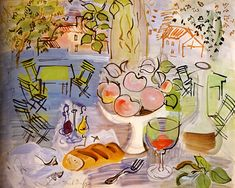 Bouquet of flowers, by Raoul Dufy