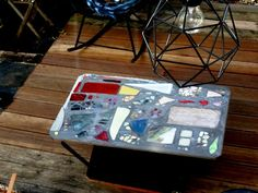 tiles and tables: mosaiktisch DIY oder pizza table in my backyard.  ..in progress