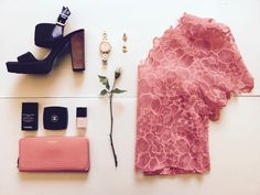 Pretty in Pink lace top by Tatyana Kurbatoff with our go-to Coach clutch and Chanel make-up Pink Lace Tops, Coach Clutch, Pretty In Pink, Beautiful Things, Chanel, Creative, How To Make, Inspiration, Fashion