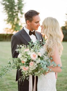 blush and foliage bridal bouquet for destination wedding in France, by NKT Events