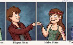 Gravity Falls : Dipper & Mabel 11th Grade Yearbook http://emmersdrawberry.tumblr.com/