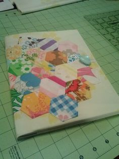 Vintage bedsheet journal cover