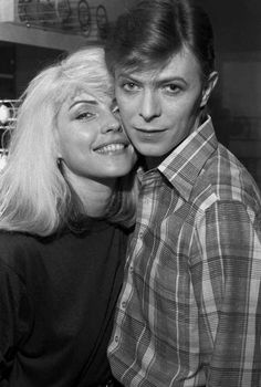 Debbie Harry and David Bowie backstage during the Idiot tour, 1977 by Chris Stein