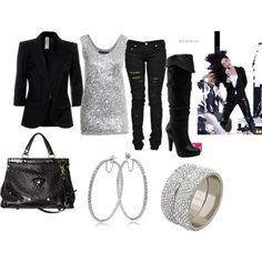 Concert Outfits | Demi Lovato concert outfit recreation with black hair