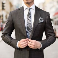 Junge Kombi mit 7cm schmaler Glencheck-Design Krawatte