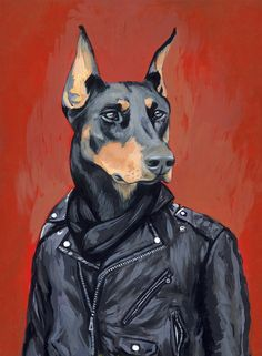 Sven - A Dog in Clothes - Fine Art Giclee Print