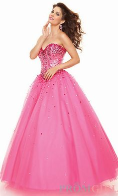 Want it!!! but in purple!! :) Strapless Tulle Ball Gown by Mori Lee at PromGirl.com