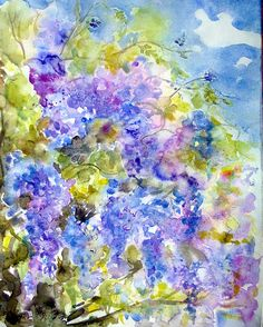Art: Watercolour: ...Wisteria Challenge...