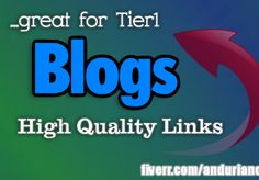 anduriancj: create 30 Dofolow Contextual Backlinks from 15 BLOGS with high page rank , great for Tier1 for $5, on fiverr.com